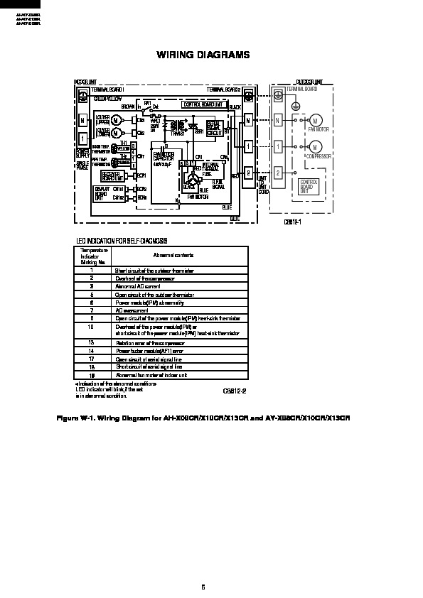 sharp ah x10 (serv man3) service manual view online or download Lennox Air Conditioner Wiring Diagram ah x10 (serv man3) wiring diagrams sharp air conditioner service manual (repair manual)