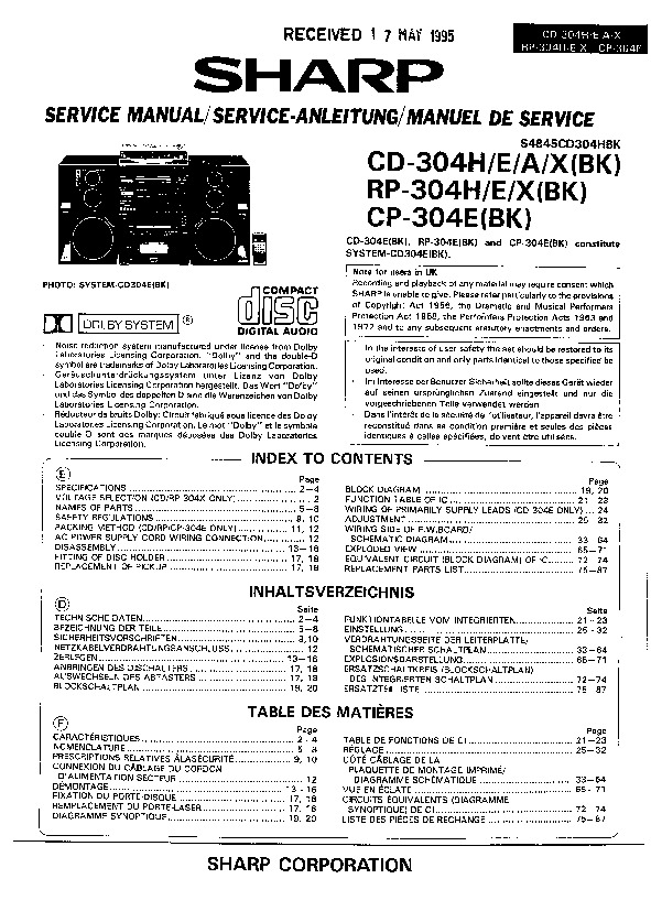 sharp audio service manuals and schematics  u2014 repair information for electronics technicians