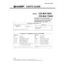 Sharp CD-BA1700 (serv.man4) Parts Guide
