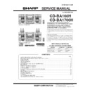 Sharp CD-BA1700 (serv.man6) Service Manual