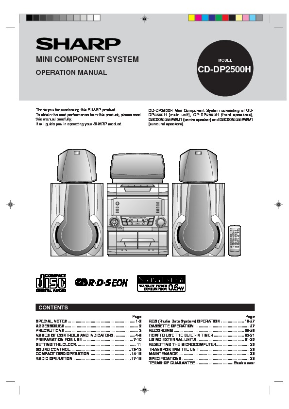 Sharp Cd  Operation Manual  U2014 View
