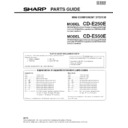Sharp CD-E250 (serv.man2) Parts Guide