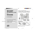 Sharp CD-E250 User Guide / Operation Manual