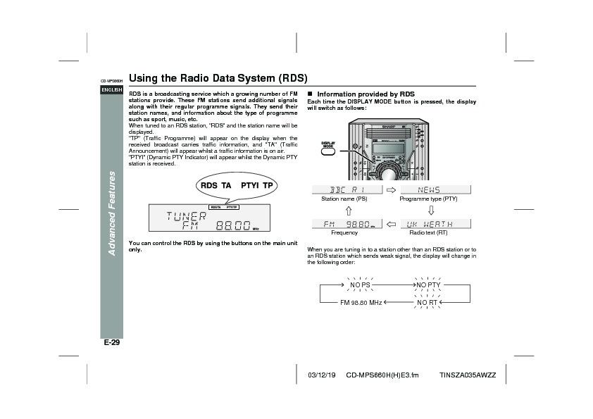 sharp cd mps660h serv man9 user guide operation manual view rh servlib com User Manual Kindle Fire User Guide