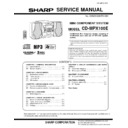 Sharp CD-MPX100E (serv.man3) Service Manual