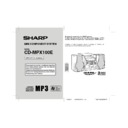 Sharp CD-MPX100E User Guide / Operation Manual