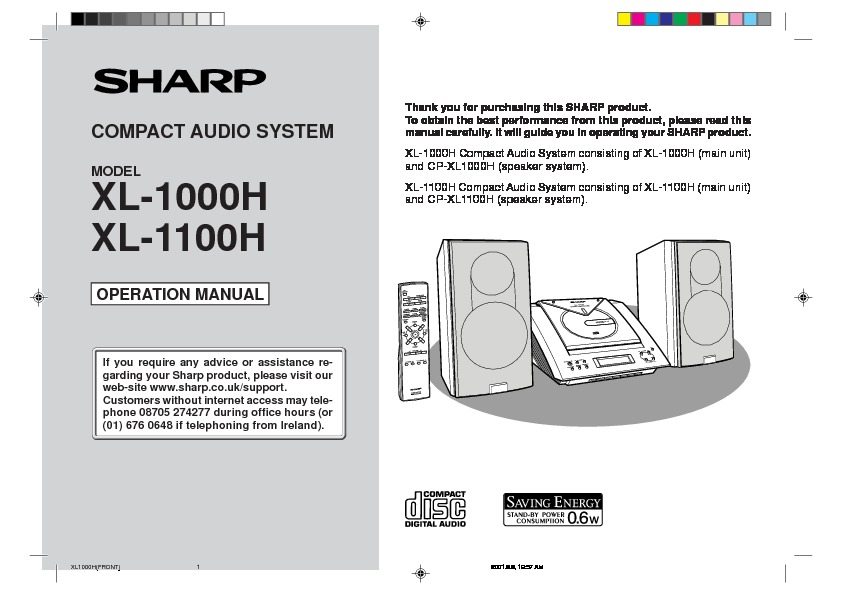 Sharp xl 1000 user guide operation manual view online or xl 1000 user guide operation manual publicscrutiny Choice Image