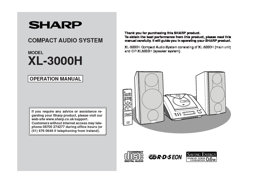 Sharp xl 3000 user guide operation manual view online or xl 3000 user guide operation manual publicscrutiny Choice Image