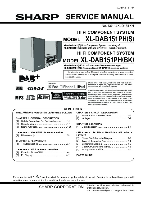 Fi service manual user guide manual that easy to read sharp xl dab serv man2 service manual view online or download rh servlib com fi 6800 service manual hi fi service manual free download fandeluxe Gallery