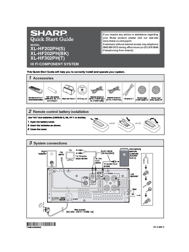 Sharp Xl  Operation Manual