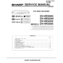 Sharp DV-HR300H Service Manual