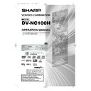 Sharp DV-NC100H (serv.man8) User Guide / Operation Manual