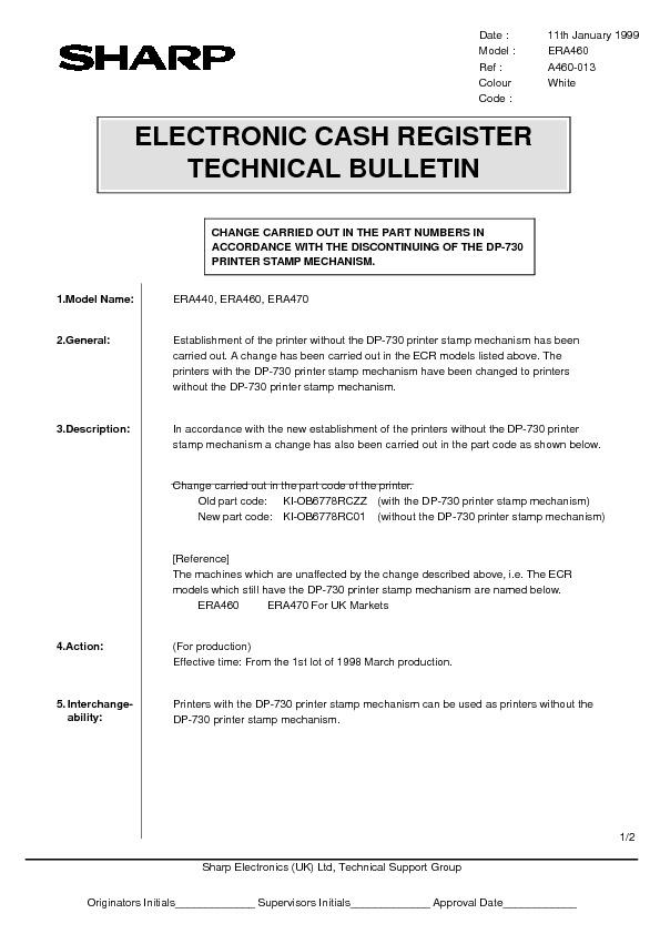 sharp er a460 serv man11 technical bulletin view online or rh servlib com GE Washer Repair Guide