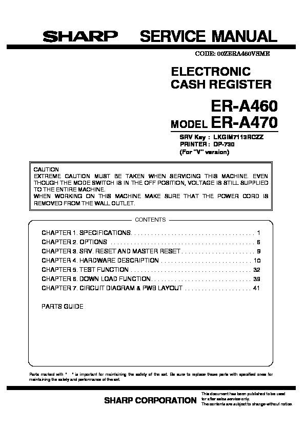 sharp er a460 serv man2 service manual view online or download rh servlib com Online Repair Guide How Do I Fix It
