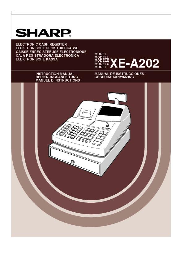 sharp xe a202 serv man3 user guide operation manual view rh servlib com Sharp XE A202 User Manual Sound Logic Manuals