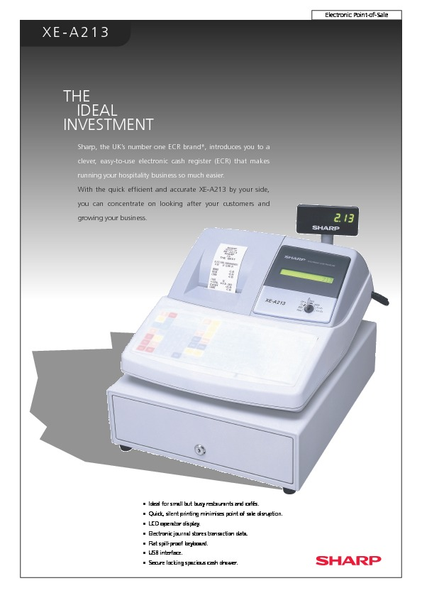 Sharp xe a213 servn3 service manual view online or download xe a213 servn13 brochure fandeluxe Image collections