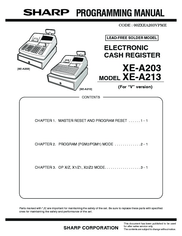 Sharp xe a213 servn3 service manual view online or download xe a213 servn3 service manual fandeluxe Image collections
