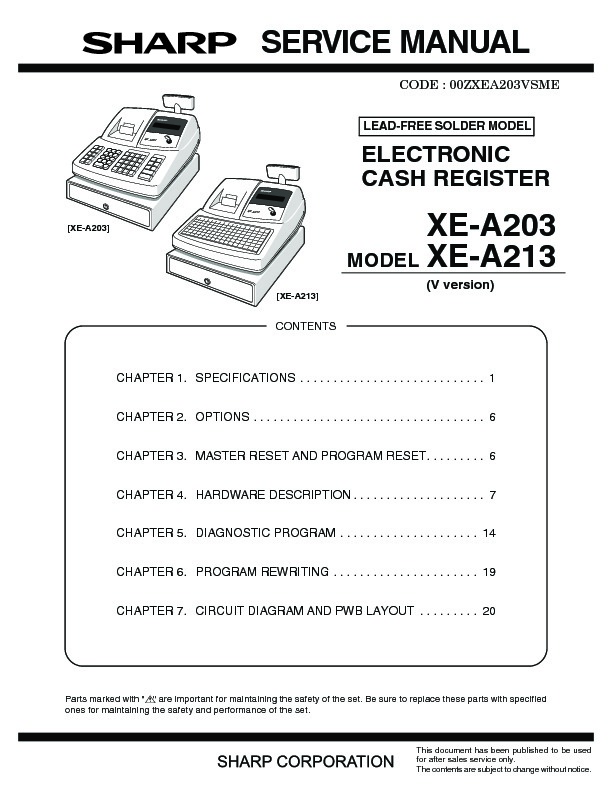 Sharp xe a213 servn3 service manual view online or download xe a213 servn4 service manual fandeluxe Image collections
