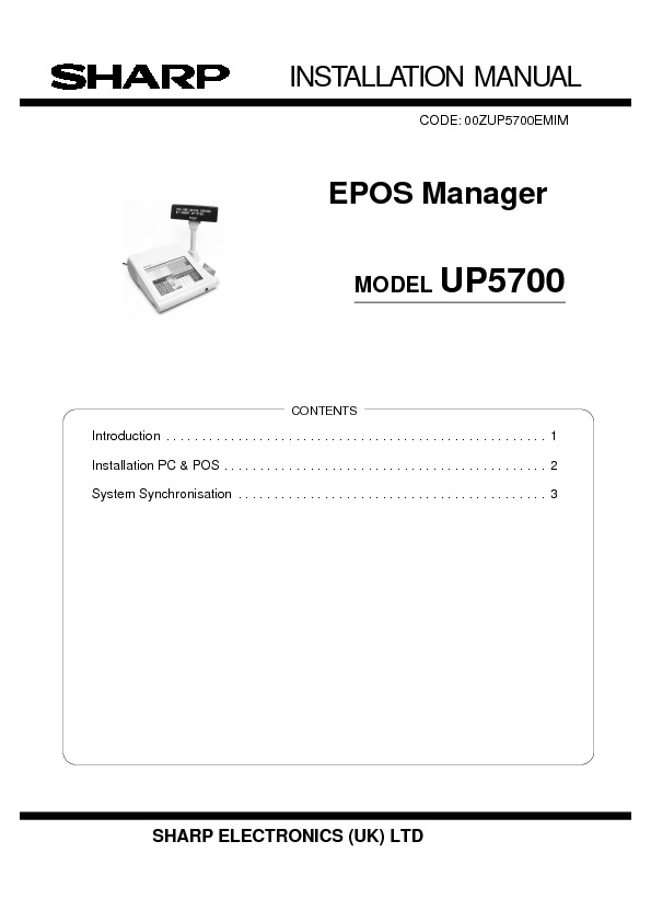 Sharp eposmanager service manual view online or download repair eposmanager service manual publicscrutiny Choice Image
