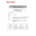 Sharp ER-A750 (serv.man12) Technical Bulletin