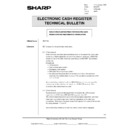 Sharp ER-A750 (serv.man17) Technical Bulletin