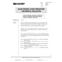 Sharp ER-A750 (serv.man18) Technical Bulletin
