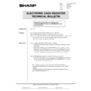Sharp ER-A750 (serv.man20) Technical Bulletin