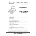 Sharp ER-A750 (serv.man3) Service Manual