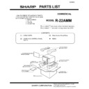 Sharp R-22AMM (serv.man13) Parts Guide