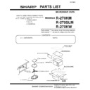 R-270SLM (serv.man3) Parts Guide