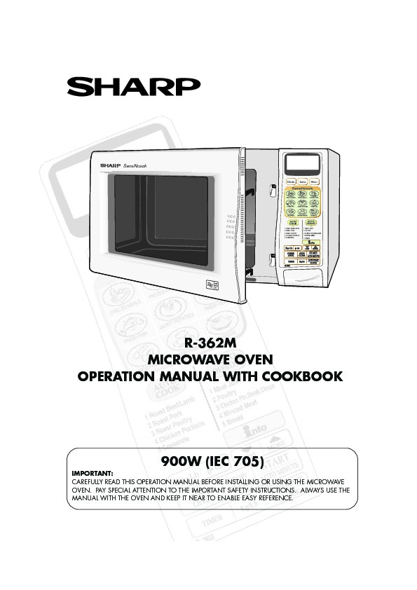 sharp r 362m serv man4 user guide operation manual view online rh servlib com sharp microwave manuals downloads sharp microwave manual carousel