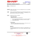 Sharp R-4G15M (serv.man9) Technical Bulletin