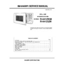 Sharp R-641AM Service Manual