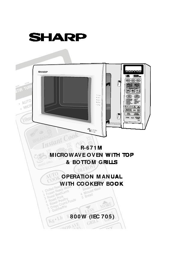 sharp r 671m serv man2 user guide operation manual view online rh servlib com Maytag Microwave Manual Manual for Panasonic Microwave