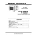 Sharp R-752M Service Manual