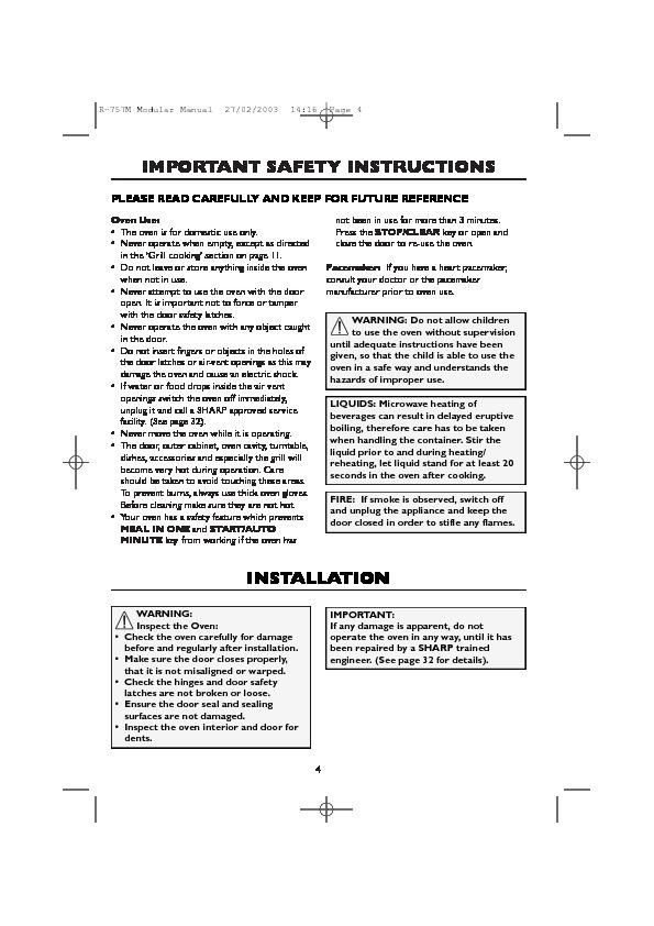 sharp r 757m serv man24 user guide operation manual view rh servlib com Instruction Manual Book All Instruction Manuals