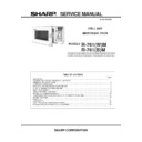 Sharp R-761M (serv.man2) Service Manual