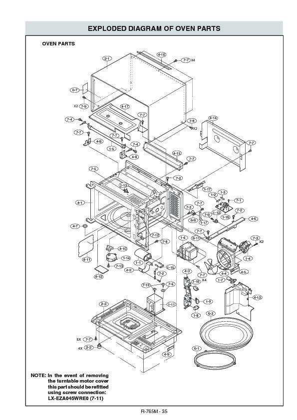 Sharp R 765m Serv Man17 Parts Guide