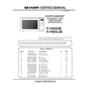 Sharp R-798M (serv.man2) Service Manual