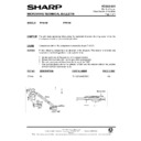 Sharp R-7A63M (serv.man6) Technical Bulletin