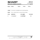 Sharp R-7A63M (serv.man9) Technical Bulletin