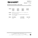 Sharp R-7A67M (serv.man8) Technical Bulletin