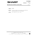 Sharp R-7C58M (serv.man10) Technical Bulletin