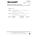 Sharp R-7C58M (serv.man8) Technical Bulletin