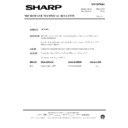 Sharp R-7N76M (serv.man11) Technical Bulletin