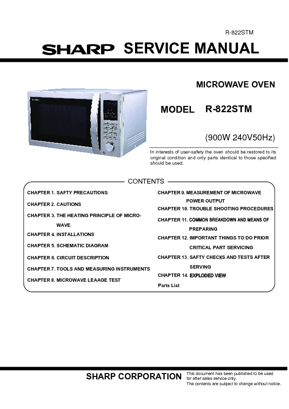 User Guide Convection Manual Sharp R