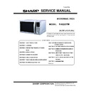 Sharp R-822STM Service Manual