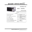Sharp R-82STM-A Service Manual
