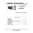 Sharp R-82STM Service Manual