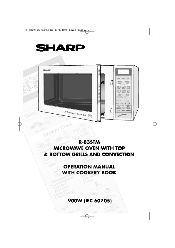 sharp r 83stm service manual view online or download repair manual rh servlib com Microwave Convection Oven Microwave Oven